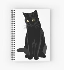 Black Cat Spiral Notebook