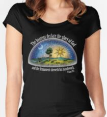 Flat Earth - Psalm 19:1 (The Firmament) Black Women's Fitted Scoop T-Shirt
