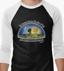 Flat Earth - Psalm 19:1 (The Firmament) Black Men's Baseball ¾ T-Shirt
