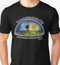 Flat Earth - Psalm 19:1 (The Firmament) Black Unisex T-Shirt