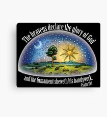 Flat Earth - Psalm 19:1 (The Firmament) Black Canvas Print