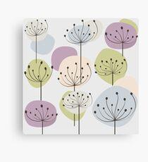 Pastel dandelion Canvas Print