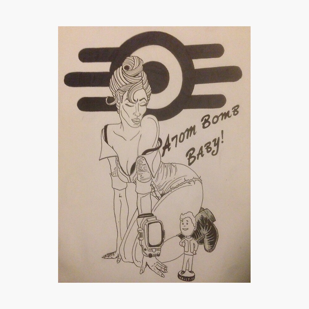 Atombombe Baby Fotodruck