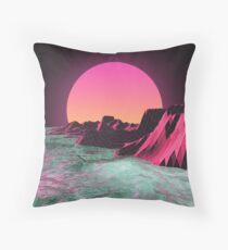 80's  R I S E R Throw Pillow
