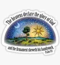 Flat Earth - Psalm 19:1 (The Firmament) White Sticker