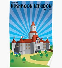 Mushroom Kingdom: Art Deco Poster