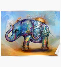 magic rainbow elephant Poster