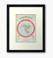 Flat Earth - Gleason's Map Framed Print