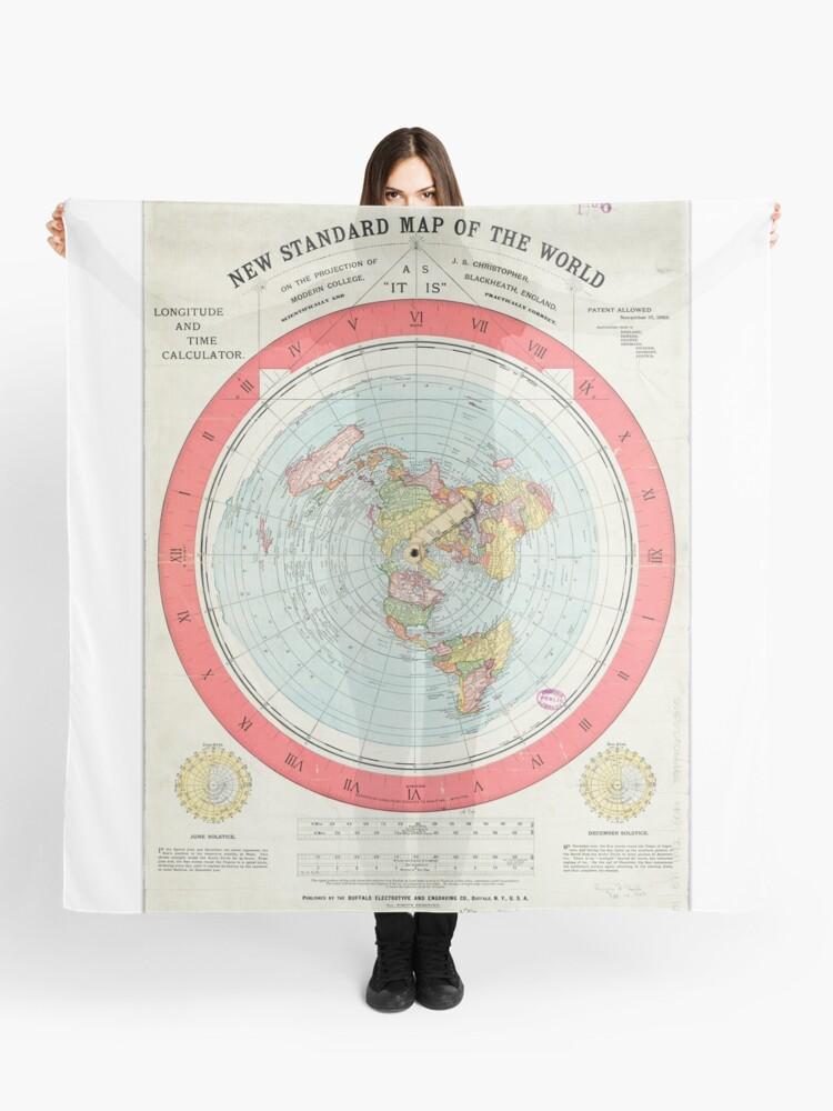 Gleason Flache Erde Karte.Flache Erde Gleasons Karte Tuch