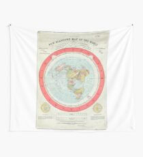 Flat Earth - Gleason's Map Wall Tapestry