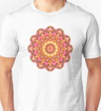 Be Free Mandala in Pink, Yellow and Purple Unisex T-Shirt