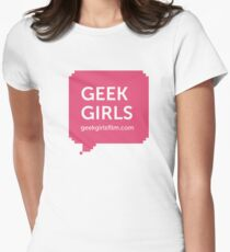 GEEK GIRLS logo Women's Fitted T-Shirt