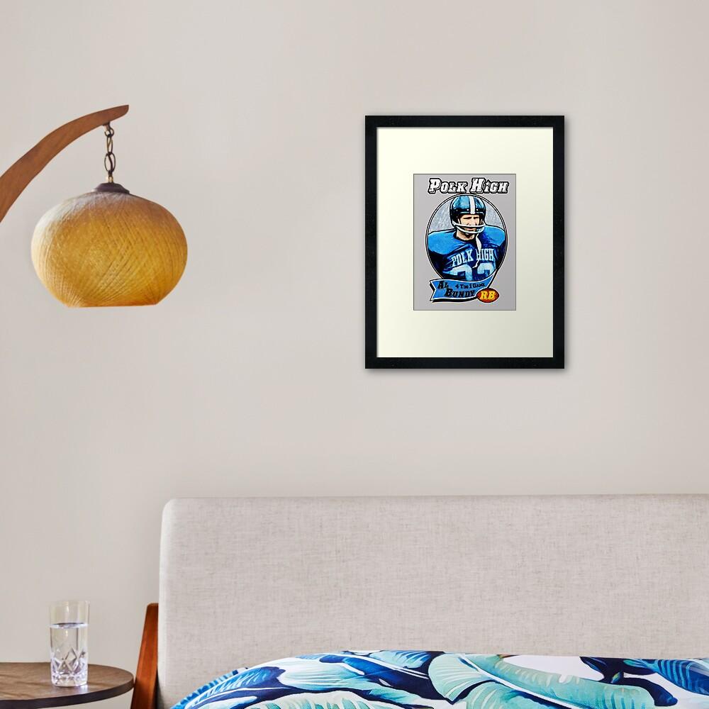 Al Bundy Football card Framed Art Print