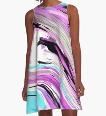 Marbled Lilac  A-Line Dress