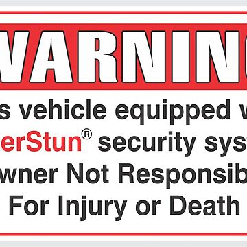 Taserstun Vehicle Security Decal by daleharvey