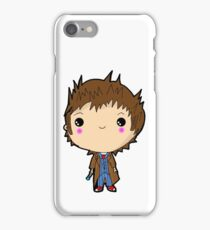 Kawaii Doctor Who Chibi (David Tennant) Glasgow iPhone Case/Skin