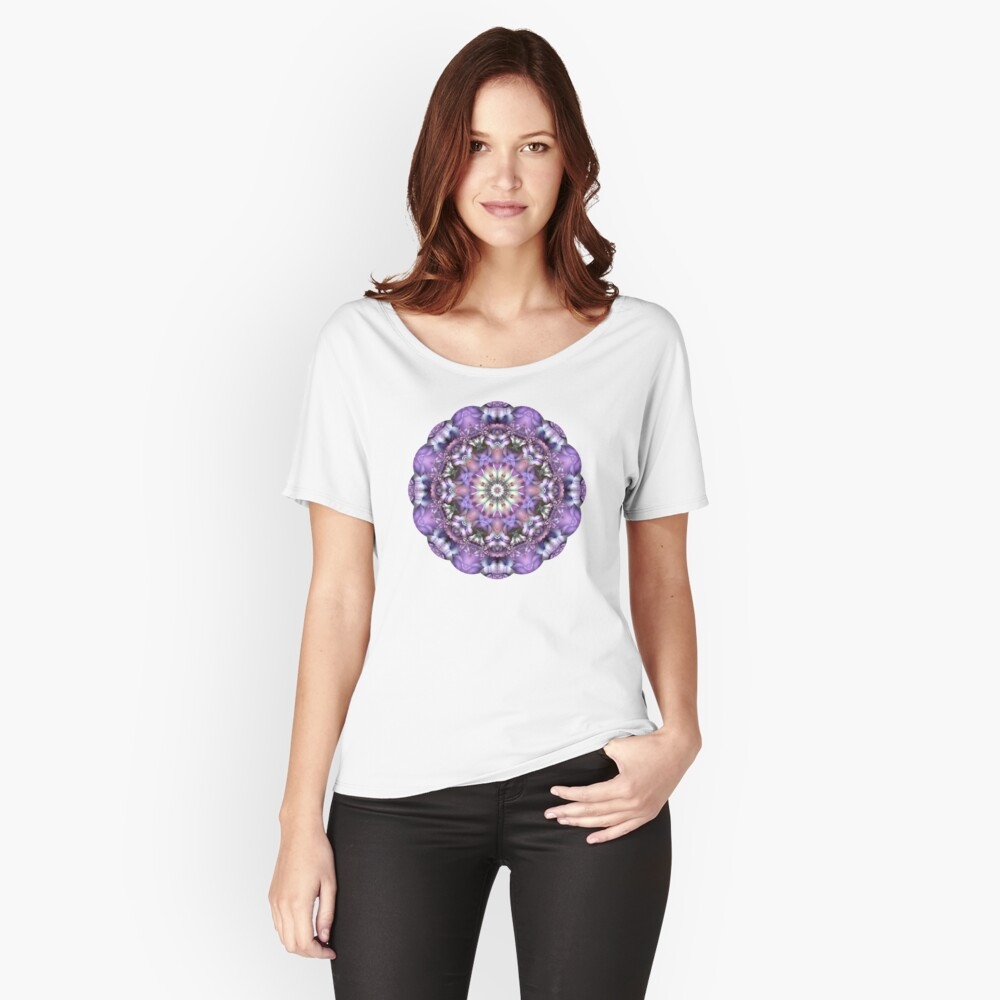 Lilac Mandala Women's Relaxed Fit T-Shirt Front