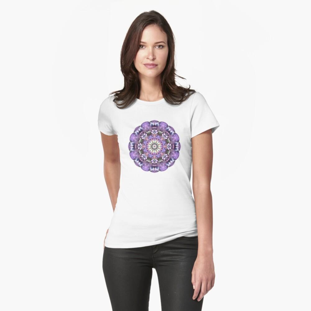 Lilac Mandala Fitted T-Shirt