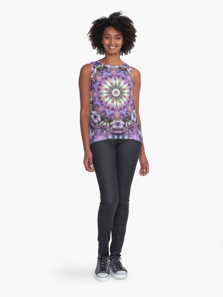 Alternate view of Lilac Mandala Sleeveless Top