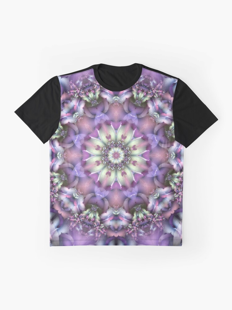 Alternate view of Lilac Mandala Graphic T-Shirt