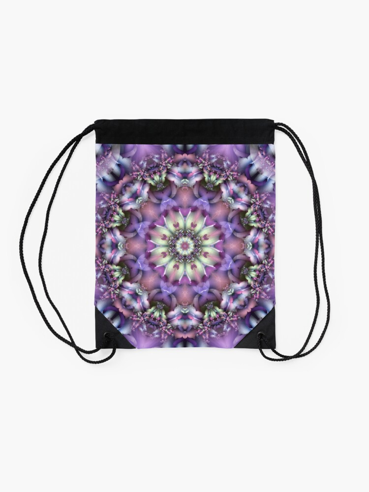 Alternate view of Lilac Mandala Drawstring Bag