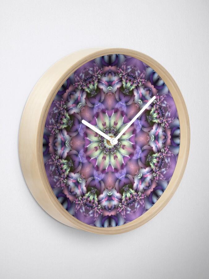 Alternate view of Lilac Mandala Clock