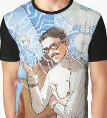 Nikola Tesla - The Magician Graphic T-Shirt