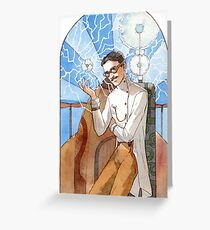Nikola Tesla - The Magician Greeting Card