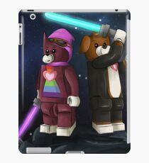 Block Boston and Beagle Space War Illustration iPad Case/Skin