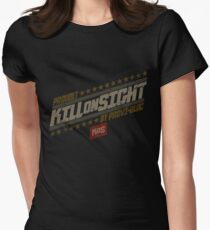 Kill On Sight (Red Version) Womens Fitted T-Shirt