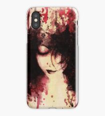 Wounds That Never Heal (acrylic painting, dark female portrait) iPhone Case/Skin