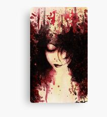Wounds That Never Heal (acrylic painting, dark female portrait) Canvas Print