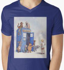 Doctor Pooh Men's V-Neck T-Shirt