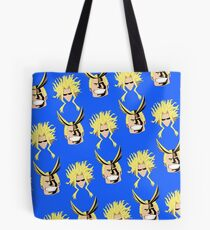 All Might Blue Pattern Tote Bag
