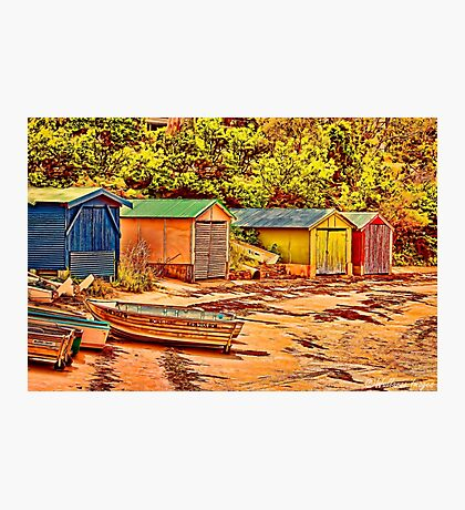 Boatsheds  Photographic Print