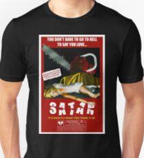 Say You Love Satan 80s Horror Podcast - Pieces Unisex T-Shirt