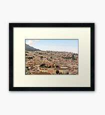 Historic downtown of Quito  Framed Print
