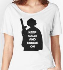 Bleib ruhig und mach weiter Baggyfit T-Shirt