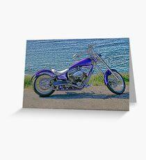 Harley Davidson Side On Greeting Card