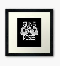 Guns N' Poses - Fitness Framed Print