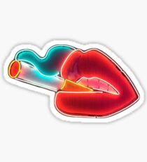 lips and cigarette  Sticker