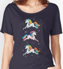 Rainbow Unicorns  Women's Relaxed Fit T-Shirt
