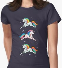 Rainbow Unicorns  Womens Fitted T-Shirt