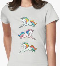 Rainbow Unicorns  Womens Fitted T-Shirt