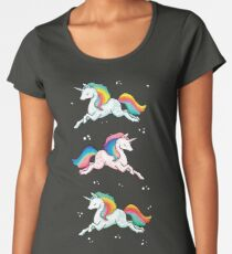 Rainbow Unicorns  Women's Premium T-Shirt
