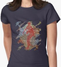 STRIKE THREE - BASEBALL PITCHER Fitted T-Shirt