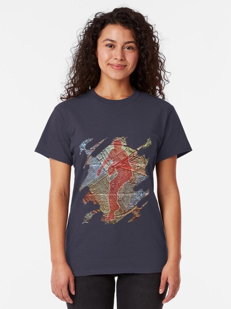 Alternate view of STRIKE THREE - BASEBALL PITCHER Classic T-Shirt