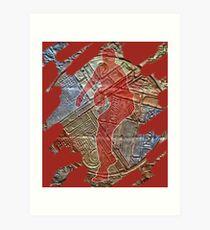 STRIKE THREE - BASEBALL PITCHER Art Print