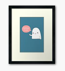 I believe in ghosts  Framed Print