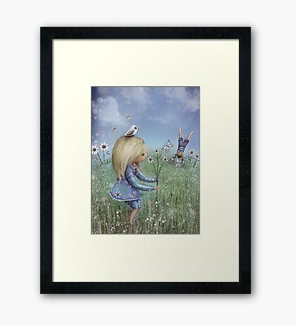 moments of innocence Framed Print